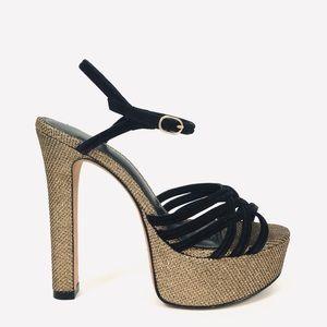 Alexander Birman Berthe Suede Platform Sandals